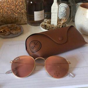 Round mirrored Ray-Ban sunglasses!